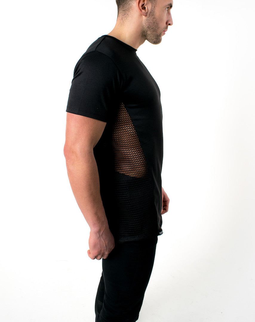 Oblique Envy Tshirt; Black-On-Black