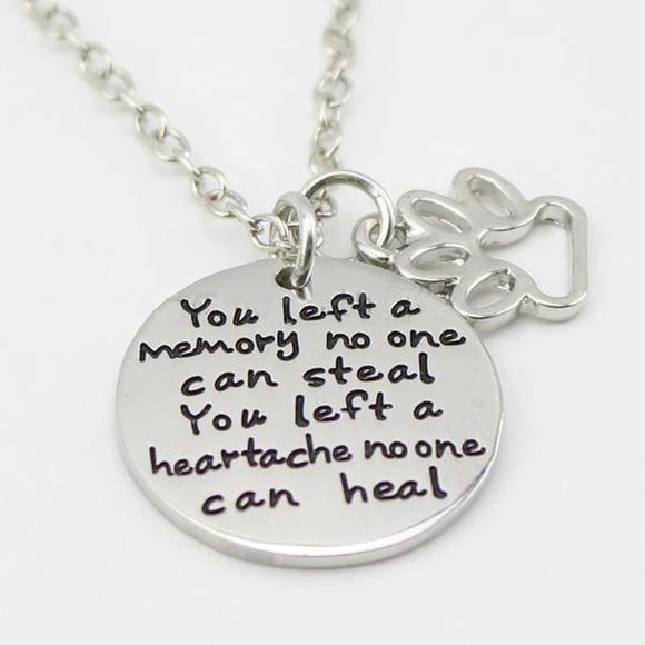 Touching Dog Memorial Necklace - [dog_momma_treats]