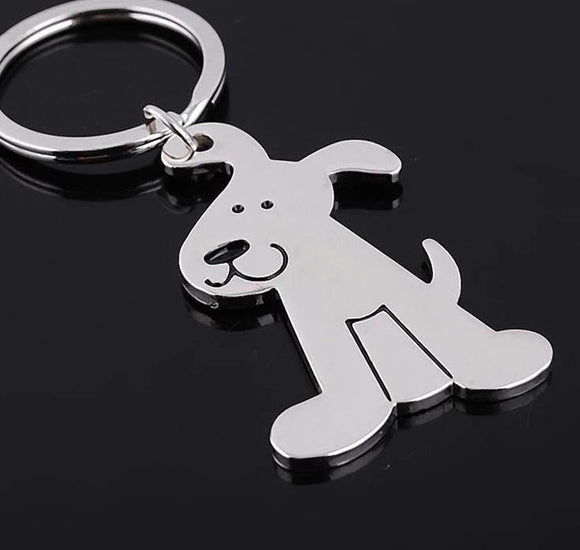 Happy Puppy Dog Metal Key-Chain - [dog_momma_treats]