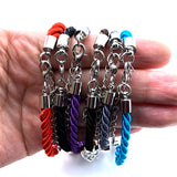 Charming Handwoven Best Friend Dog Paw Charm Bracelet - [dog_momma_treats]