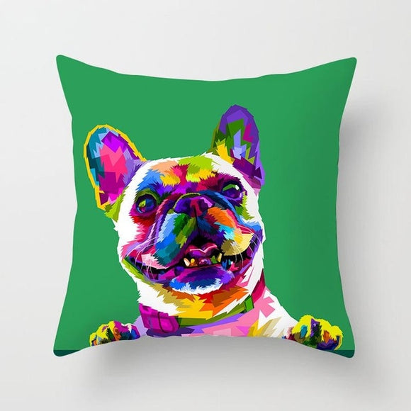Vibrant Dog Cushion Cover- 5 styles - [dog_momma_treats]