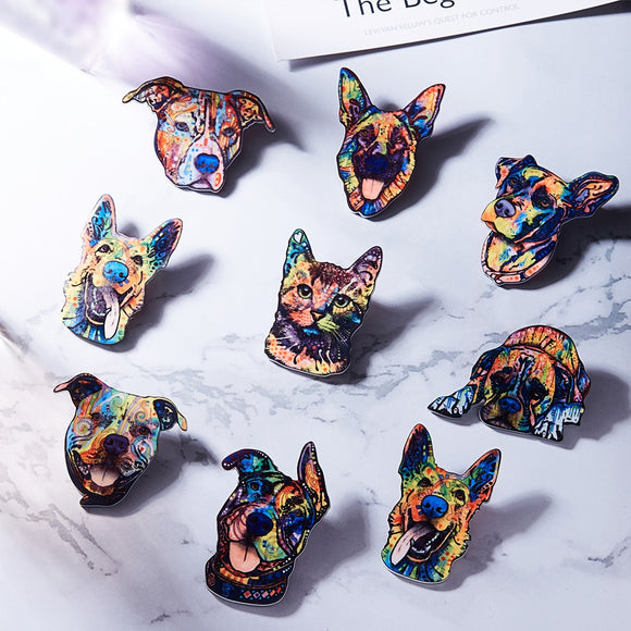 Colorful Dog Brooches- 7 styles - [dog_momma_treats]
