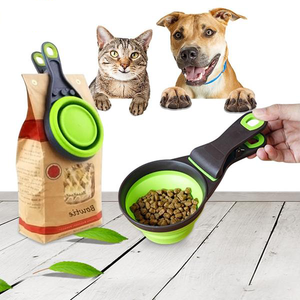 Convenient Dog Food Collapsible Scoop and Bag Sealing Clip - [dog_momma_treats]