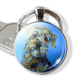 Darling Dog Lovers Silver Plated Key Chains- 14 Styles - [dog_momma_treats]