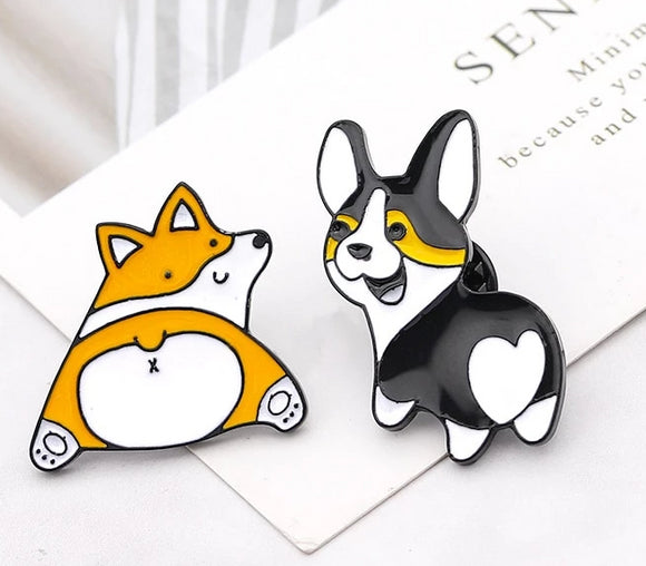 Delightful Corgi Dog Brooches - [dog_momma_treats]
