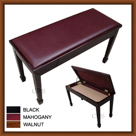 Grand Duet Storage Padded Top Piano Bench (A101)