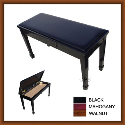 Leather Grand Duet Piano Bench with Storage (AL101)