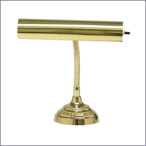 "Advent 10"" Polished Brass Piano/Desk Lamp"