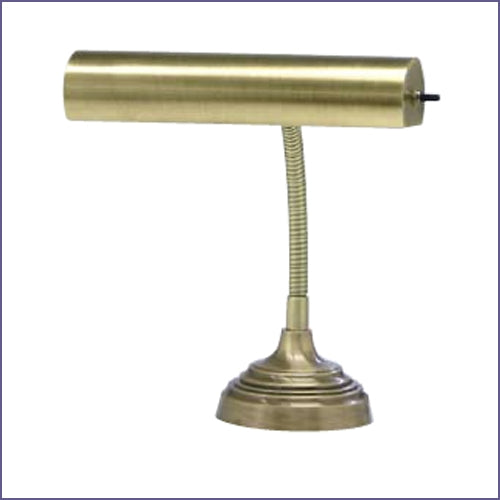 "Advent 10"" Antique Brass Piano/Desk Lamp"