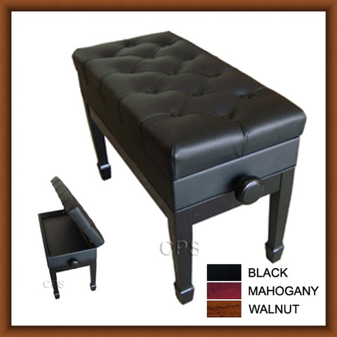 Duet Size Adjustable Artist Leather Storage Bench (BL105)