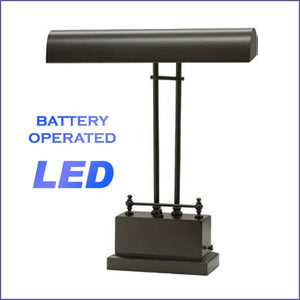 Battery Operated LED Piano Lamp Mahogany Bronze