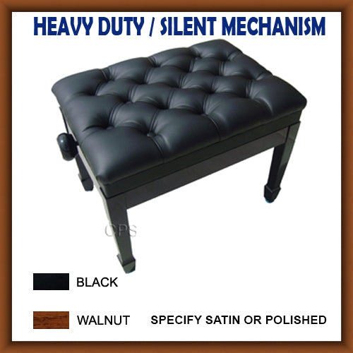 Leather Pillow Top Adjustable Artist Piano Bench (E17)
