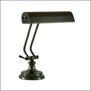 "10"" Mahogany Bronze Piano Lamp - Round Base"
