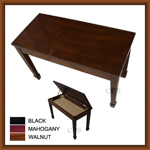 Wood Top Grand Duet Piano Bench (W101)