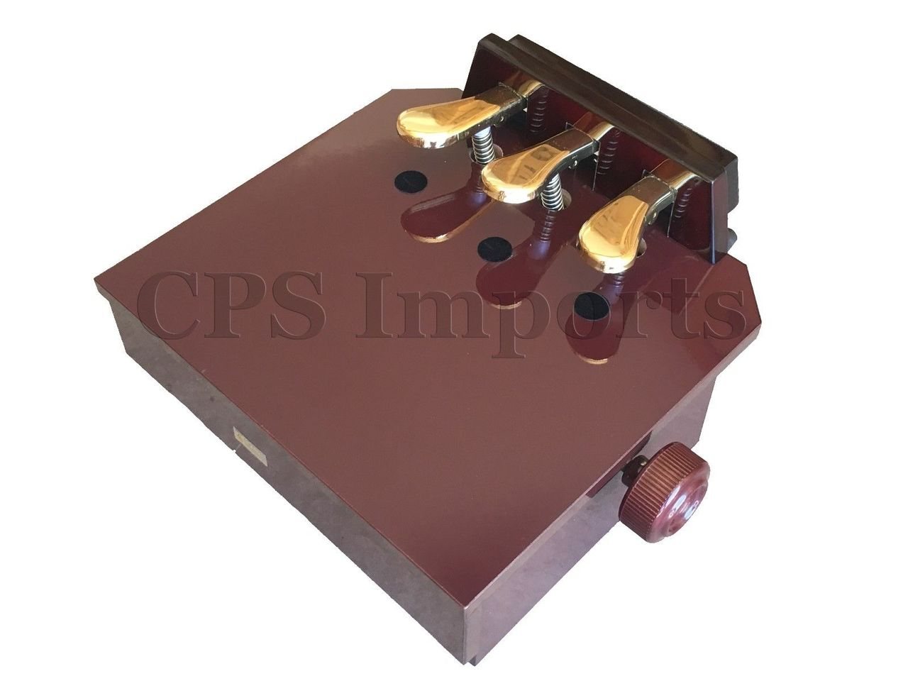 Pedal Extender - Gloss Mahogany (reddish brown)