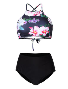 Women's Halter Beach Bathing Swimsuit 2 Piece Sexy Bikini Set Padded Bra&Triangle Panties