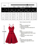 GlorySunshine Women Deep V-Neck Spaghetti Strap Dress Sleeveless Sexy Summer Cocktail Party Dress-Red