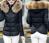 Women Cotton-padded Jacket Hooded Coat Korean Style Thickened Cotton-padded Jacket
