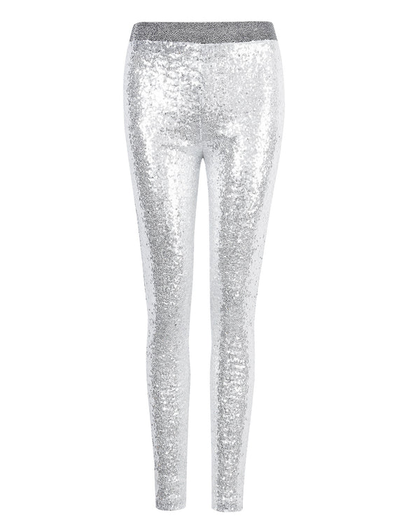 Imixcity Women Shiny Sequin Stretch Tights Skinny Legging Pant