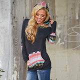 Autumn Women Print Hoodies Sweatshirts New Casual Ladies Long Sleeve Pullovers