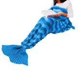 All Seasons Super Soft Warm Fashion Mermaid Blanket Wave Stripes Blanket