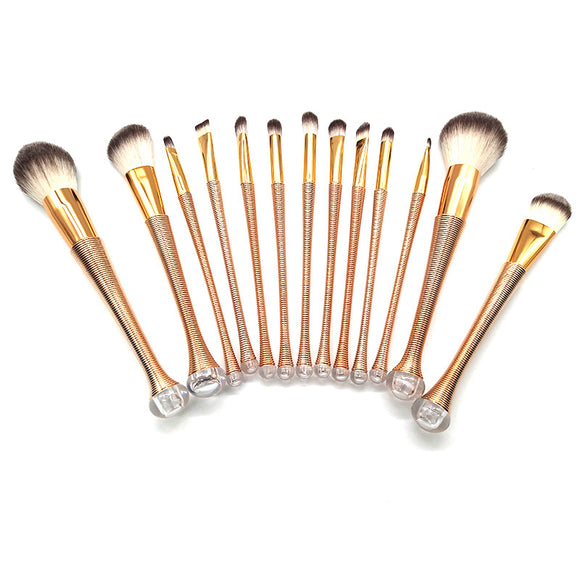 6 Pcs/13 Pcs Fashion Gradient Foundation Powder Eyeshadow Eyeliner Lip Cosmetic Brush Tools