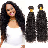 Brazilian Wave Kinky Curly Hair Real Natural Black Silky Soft Human Hair Extensions