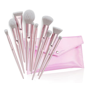 10 Pcs/set Makeup Brushes Set Foundation Cosmetic Eyebrow Eyeshadow Brush with Storage Bag