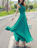 Fashionable Bohemia Style Chiffon Sleeveless Long Dress Stylish Skirt Gift Beach Party Wear