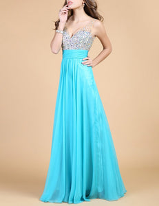 Sleeveless Fashion Deep V neck Collar Sexy Dress Sequins Splicing Color Evening Dress Skirt as Perfect Gift