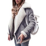 Women Cotton Jacket Fashionable Coat Warm Plush Top