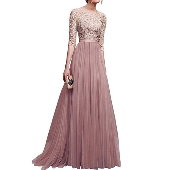 Women Delicate Chiffon Evening Dress Party Elegant Dresses Leisure Long Formal Dress