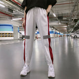 Spring and Summer Women Loose Cool High Waist Elastic Hip Hop Sweatpants Pants