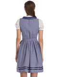 GLORYSTAR WOMEN'S TRAINING FASHION DIRNDL SET 3 PIECES CHECKED DIRNDLKLEID TRAFFIC DRESS WITH PASSING BLOUSE AND APRON