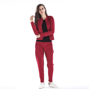 2pcs/ set Woman Fashion Jacket +Harem Pants