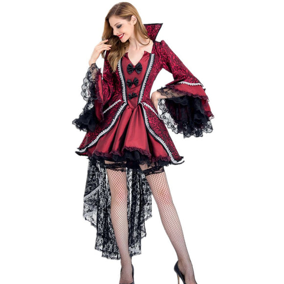Red & Black Victorian Period Luxury Halloween Costumes
