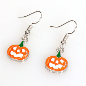 Punk Jewelry Halloween Pumpkin Earrings New Funny Bat Spider Halloween Earrings