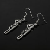 Gothic Skeleton Earrings Punk Jewelry Exaggerated Skull Earrings Halloween Accessories Ancient