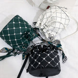 Woman Fashion Purse Chic Rivet Decoration Cross-body Single Shoulder Bag Handle Pouch