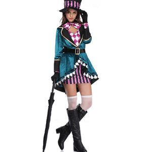 Halloween Alice Crazy Hat Adult Women Clothes Magician Costume Nightclub Tamers Performance Clothing