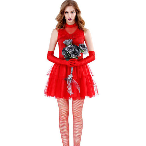 Halloween Red Ghost Bride Costume Cosplay Clothing