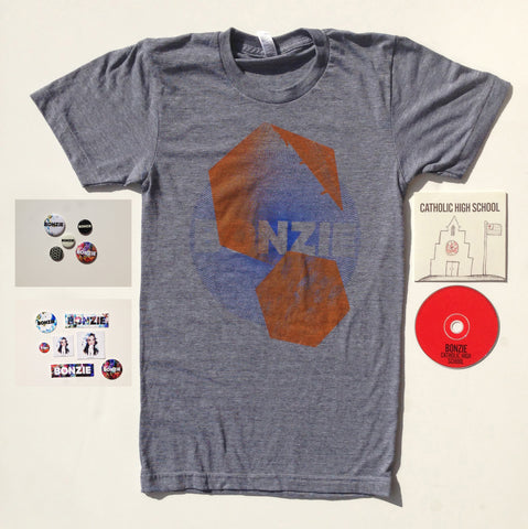 Combo: Catholic High School (single) + Any Shirt + Buttons & Stickers