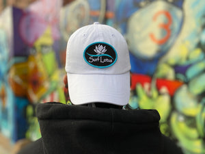Surf Lotus - The Dad Hat - White