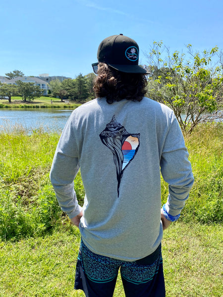 "Graphic Surf Lotus - ""T for a Cause"" - New Long Sleeve"