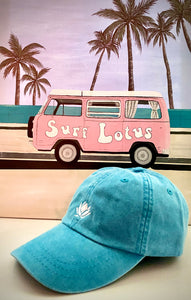 Surf Lotus Embroidered - Dad Hat - Caribbean Blue