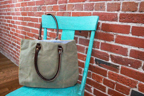 Tote Bag - Canvas and Leather