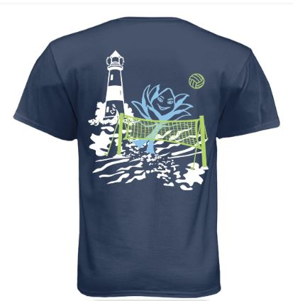 Graphic Surf Lotus - Short Sleeve - Volleyball