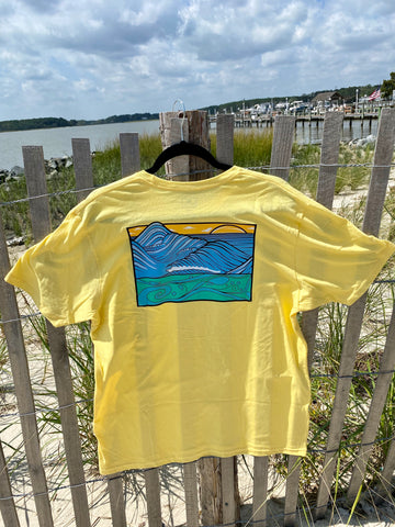 "Graphic Surf Lotus - ""T for a Cause"" - Waves Short Sleeve - Sun"