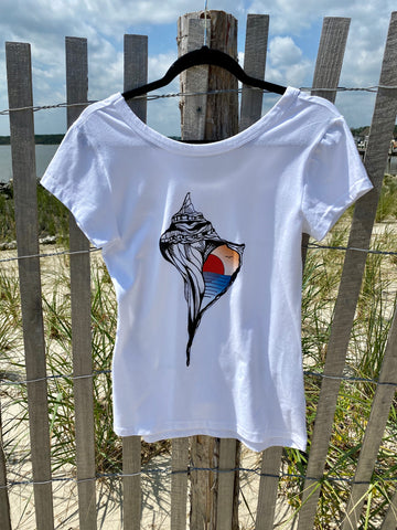 "Graphic Surf Lotus - ""T for a Cause"" - Ladies T"