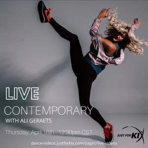 April 16th 12:30pm CST - Contemporary - Instructor: Ali